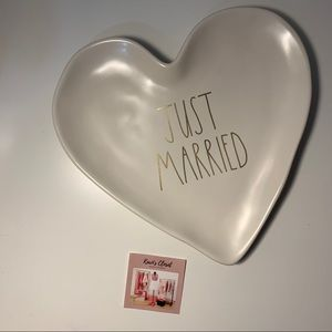 Rae Dunn Just Married Trinket tray